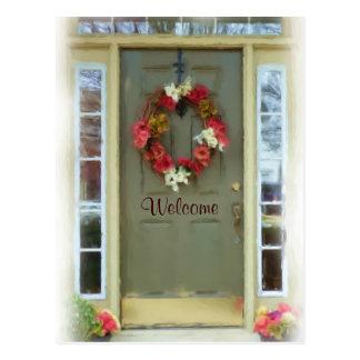 El nuevo hogar de la puerta agradable acaba de mov tarjeta postal