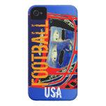 El nuevo iPhone 4S y 4 del fútbol de los niños iPhone 4 Case-Mate Cárcasa