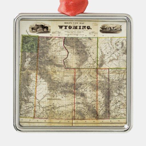 El nuevo mapa 1883 de Holt de Wyoming por el Ornamentos De Reyes