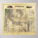 El nuevo mapa 1883 de Holt de Wyoming por el enlac Posters