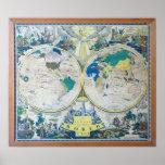 El nuevo mapa 1926 del poster del mundo