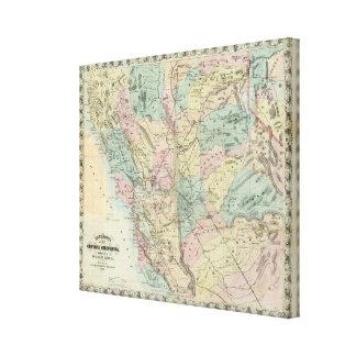 El nuevo mapa de Bancroft de California central Impresión En Lienzo Estirada