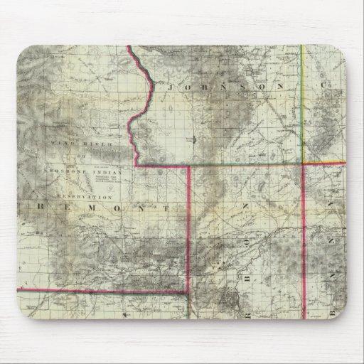 El nuevo mapa de Holt, Wyoming Alfombrillas De Ratón