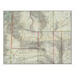 El nuevo mapa de Holt, Wyoming Impresión En Madera