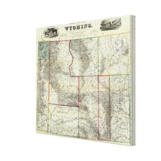 El nuevo mapa de Holt, Wyoming Impresión En Tela