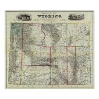 El nuevo mapa de Holt, Wyoming Impresiones