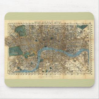 El nuevo mapa de Smith de Londres 1860 Alfombrillas De Raton