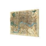 El nuevo mapa de Smith de Londres 1860 Impresiones De Lienzo