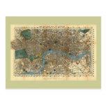 El nuevo mapa de Smith de Londres 1860 Postal