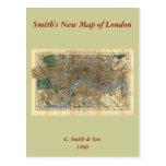 El nuevo mapa de Smith de Londres 1860 Postales