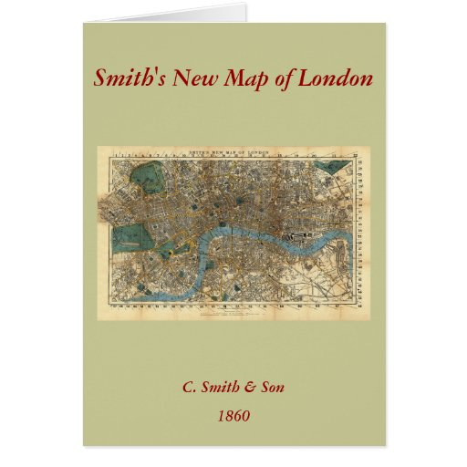 El nuevo mapa de Smith de Londres 1860 Felicitación