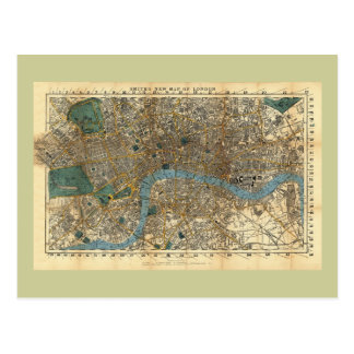 El nuevo mapa de Smith de Londres 1860 Tarjeta Postal