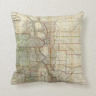 El nuevo mapa de Thayer del estado de Colorado Cojín