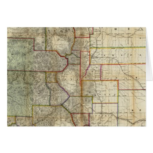El nuevo mapa de Thayer del estado de Colorado Tarjetón