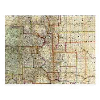 El nuevo mapa de Thayer del estado de Colorado Tarjetas Postales