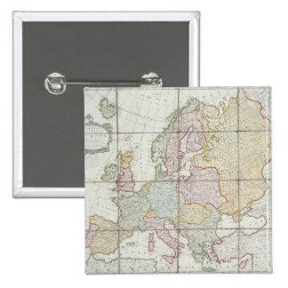 El nuevo mapa de Wallis de Europa Pins