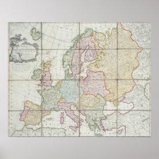 El nuevo mapa de Wallis de Europa Póster