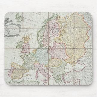 El nuevo mapa de Wallis de Europa Tapetes De Ratones