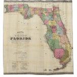 El nuevo mapa Drew's del estado de la Florida Cortina De Baño
