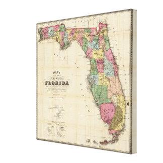 El nuevo mapa Drew's del estado de la Florida Impresión En Lona