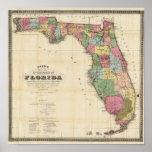 El nuevo mapa Drew's del estado de la Florida Póster