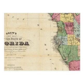 El nuevo mapa Drew's del estado de la Florida Tarjeta Postal