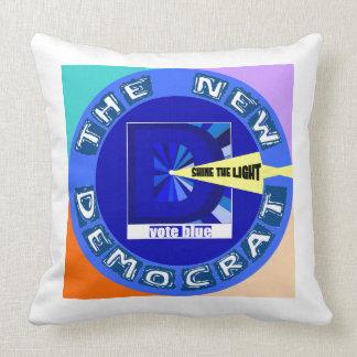 El nuevo, más agresivo, Demócrata Cojín Decorativo