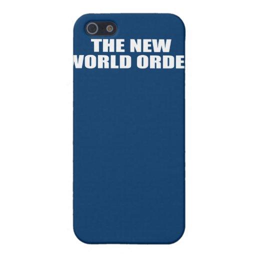 EL NUEVO ORDEN MUNDIAL iPhone 5 FUNDAS