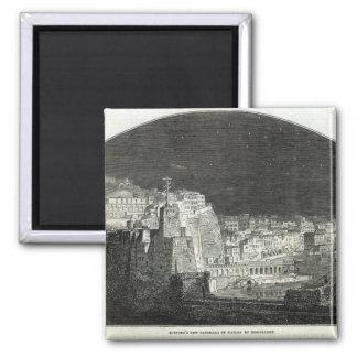 El nuevo panorama de Burford de Nápoles por claro  Imán Cuadrado