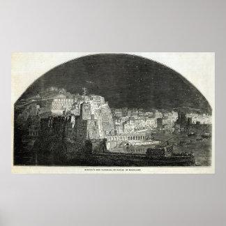 El nuevo panorama de Burford de Nápoles por claro  Impresiones