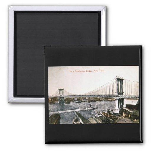 El nuevo puente CA 1909-10 de Manhattan Imán Cuadrado