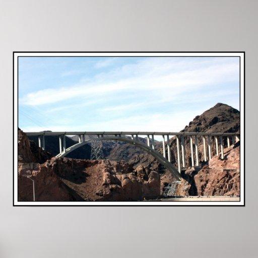 El nuevo puente de puente del Preso Hoover Posters