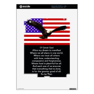 El nuevo rezo americano skins para iPad 2