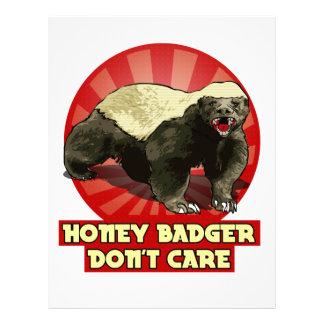 El nuevo tejón de miel no cuida membretes personalizados