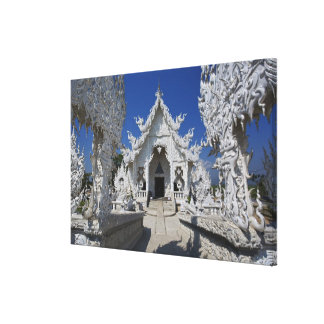 El nuevo todo el templo blanco de Wat Rong Khun ad Impresion De Lienzo
