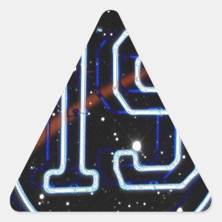 El número 19 pegatina triangular