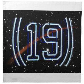 El número 19 servilletas