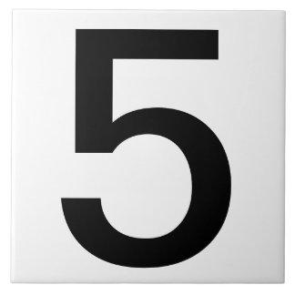 "El número de casa de la extra grande teja 6"" x6 """