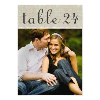 """El número de la tabla de la foto del boda carda el invitación 5"""" x 7"""""""