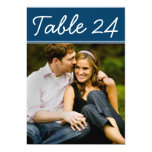 El número de la tabla de la foto del boda carda la invitación personalizada