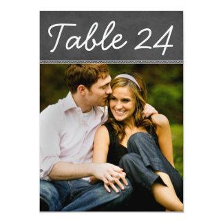 El número de la tabla de la foto del boda carda la invitación 12,7 x 17,8 cm