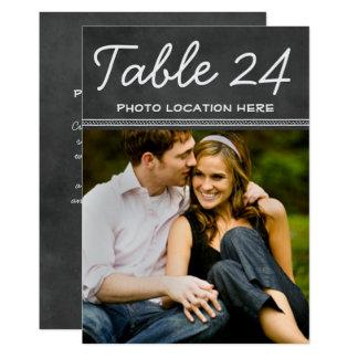 """El número de la tabla de la foto del boda carda la invitación 5"""" x 7"""""""