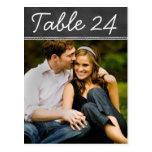 El número de la tabla de la foto del boda carda la tarjeta postal
