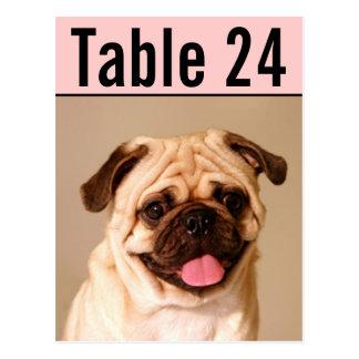 El número de la tabla de la foto del mascota carda tarjetas postales