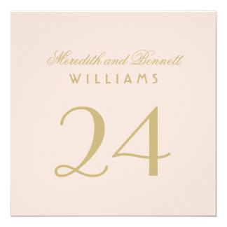 El número de la tabla del boda carda el   se invitación 13,3 cm x 13,3cm