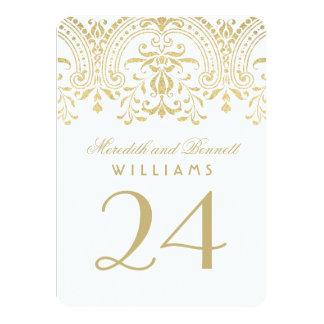 El número de la tabla del boda carda encanto del invitación 11,4 x 15,8 cm