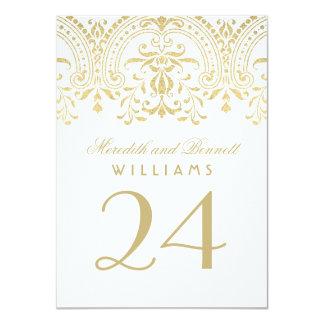 """El número de la tabla del boda carda encanto del invitación 4.5"""" x 6.25"""""""