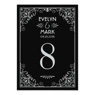 El número de la tabla del boda carda estilo del comunicado personal