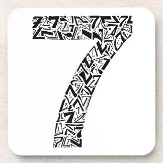 El número siete posavaso