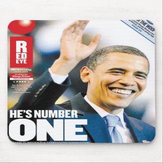 El número uno Mousepad de Obama Alfombrilla De Ratón